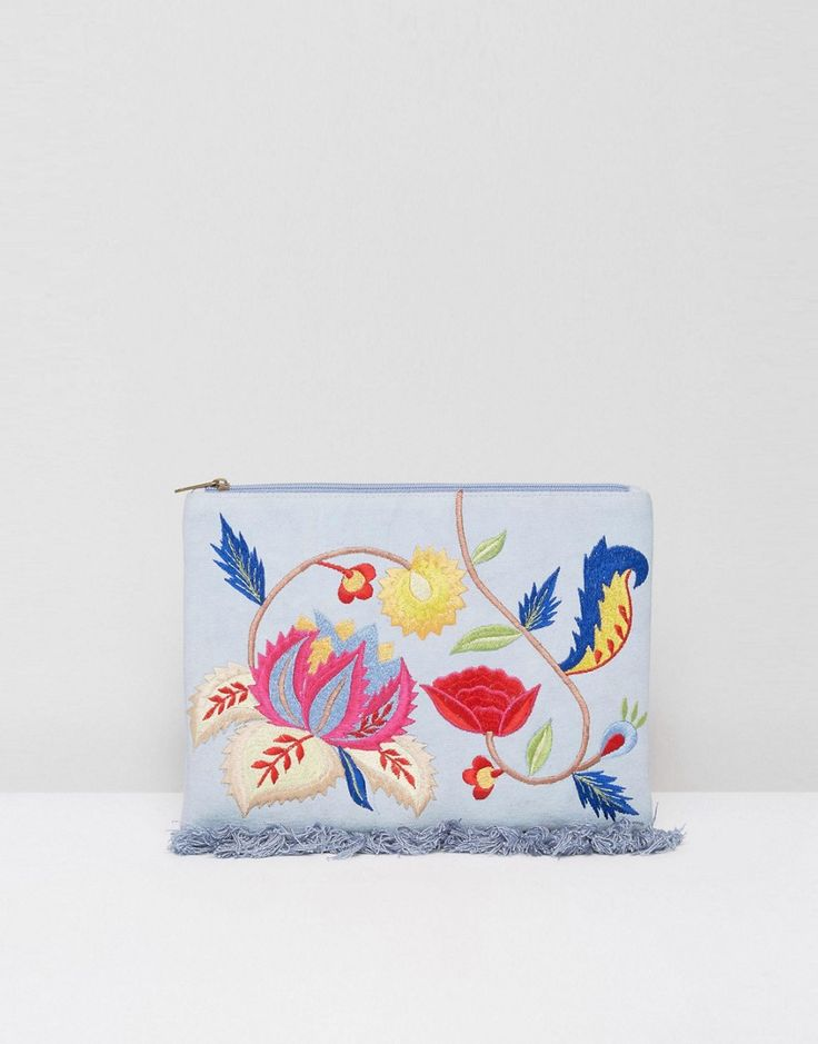 Get this Glamorous's clucth now! Click for more details. Worldwide shipping. Glamorous Embroidered Denim Clutch Bag - Multi: Clutch bag by Glamorous, Canvas denim outer, Zip top closure, Interior slip pocket, Do not wash, 70% Canvas, 30% Polyester, H: 20cm/ 8 W: 26cm/ 10 D: 3cm/ 1. An eclectic mix of vintage influences and contemporary partywear are at the heart of Manchester based label Glamorous, where individual style is the key. The carefully sourced fabrics and prints channel a fun and…