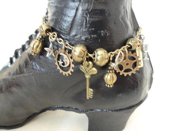 Steampunk Boot Jewelry Bracelet Anklet by SteampunkJewelry1, #vintagerebelle