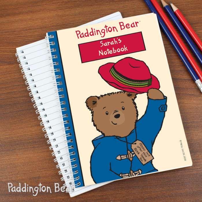 Personalised Paddington Bear A5 Notebook