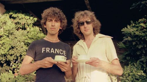 George Harrison and Eric Idle