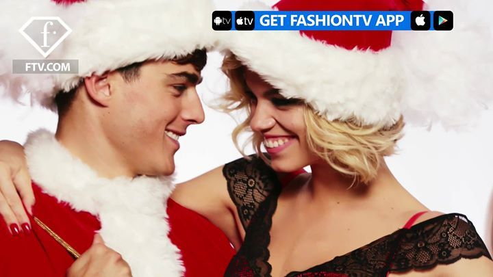 Italian lingerie label Yamamay turns up the heat with its Christmas 2017 campaign. The brand taps models Hailey Clauson and Pietro Boselli for a series of studio images. ♥️🎅The pair get festive with Pietro dressed as Santa Claus and Hailey playing a very sexy Mrs. Claus. Captured with oversized candy canes, Christmas ornaments and wrapped gifts, the pair flaunt their toned figures. Hailey is a vision in sheer bodysuits, lace bra and panty sets as well as satin camisoles.
