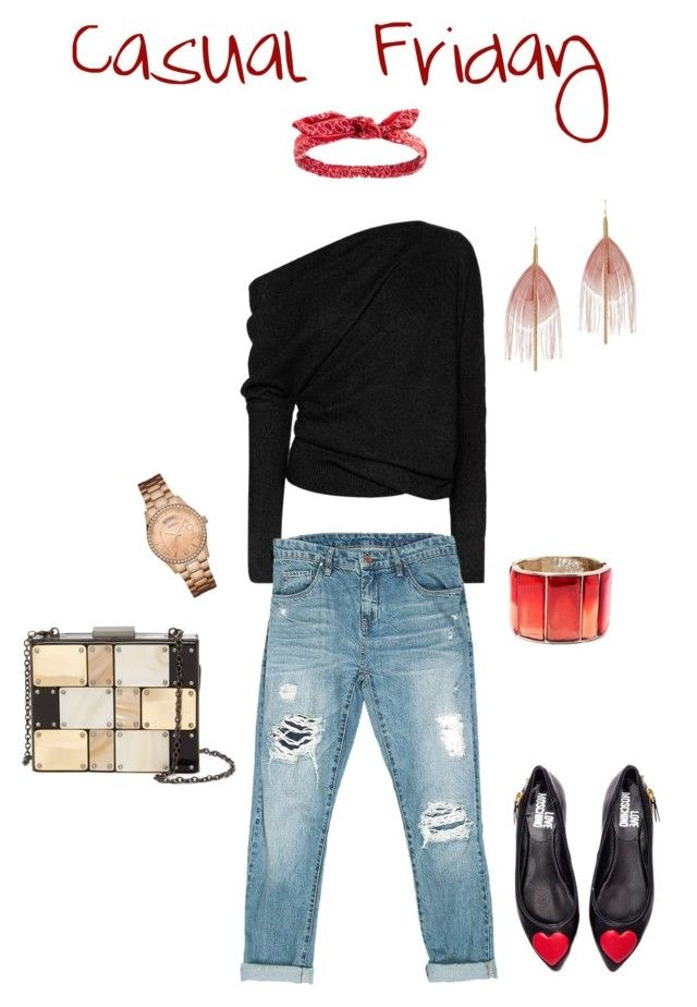 """""""Casual Friday"""" by michelle-bilodeau on Polyvore featuring moda, Tom Ford, Sans Souci, Love Moschino, Sondra Roberts, Serefina, GUESS, Oscar de la Renta y Charlotte Russe"""