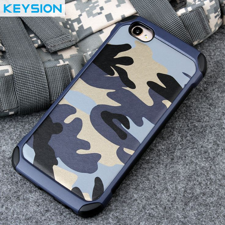 Keysion Phone Case for BBK VIVO V5 Army camo Camouflage 2 in1 Pattern PC+TPU Armor Anti-knock Protective Back Cover for VIVO Y67