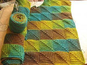 """Описание вязания - плед в технике """"вязаный пэчворк"""" - Ярмарка Мастеров - ручная работа, handmade"""