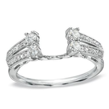 Solitaire Enhancer White Gold And Diamonds On Pinterest