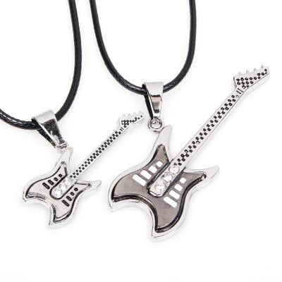Just US$7.14 + free shipping, buy Country Music Lovers Guitar Pendant Necklace 2 Pcs/Lot online shopping at GearBest.com.