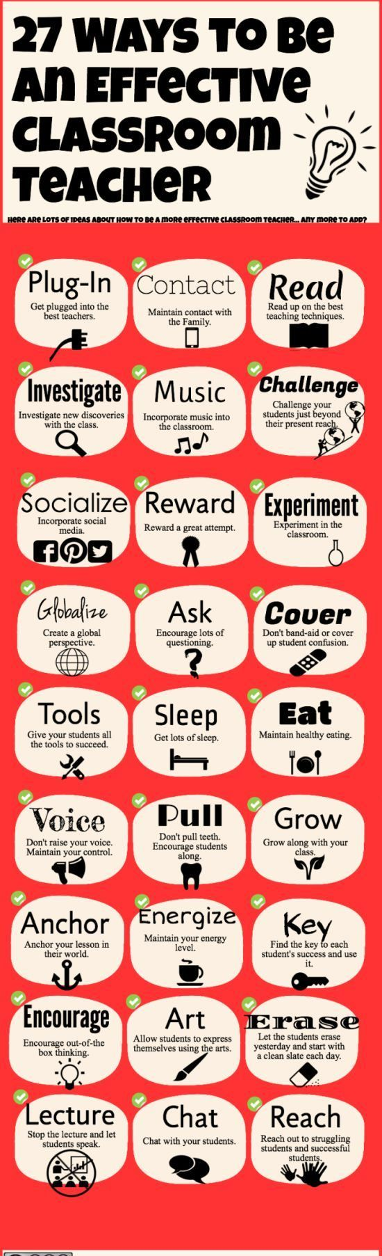 A great way for every #teacher to be an effective teacher, which of these guidelines would you say you agree with most?