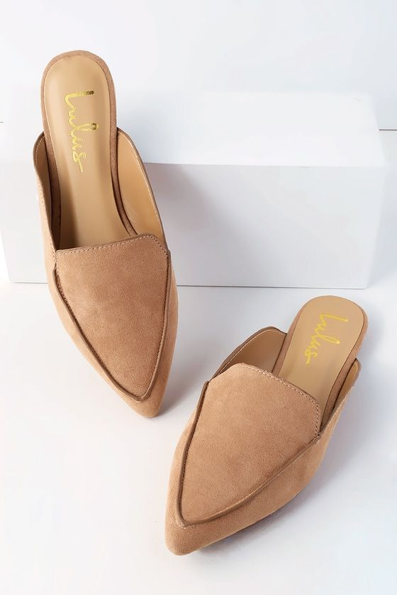 6ff1b296f4 The Lulus Joelle Camel Suede Loafer Slides are model-off-duty meets office  chic! Elevate any outfit with these vegan suede loafer slides with a  slip-on ...