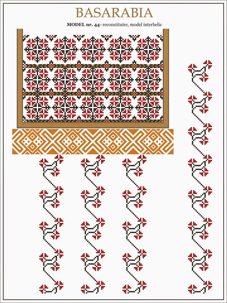 traditional Romanian pattern - central Bessarabia