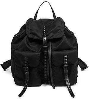 Prada Women's Studded Nylon Backpack