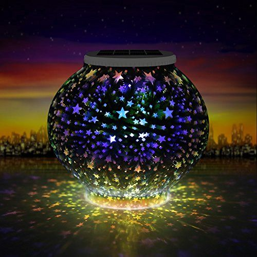 Mosaik Solar Licht, LED Sternen Lampe Kind Nachtlicht, Mehrzweck  Wasserdichter Globaler Glastopf, RGB Farbwechsel Stimmung Licht Party Deko  Lampe Für Garten ...