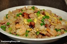 Yang Chow Fried Rice Recipe - I had this dish at the Oriental Pearl in San Francisco's China Town and have been craving it ever since.  Am going to try to make it soon now that I've found a recipe.