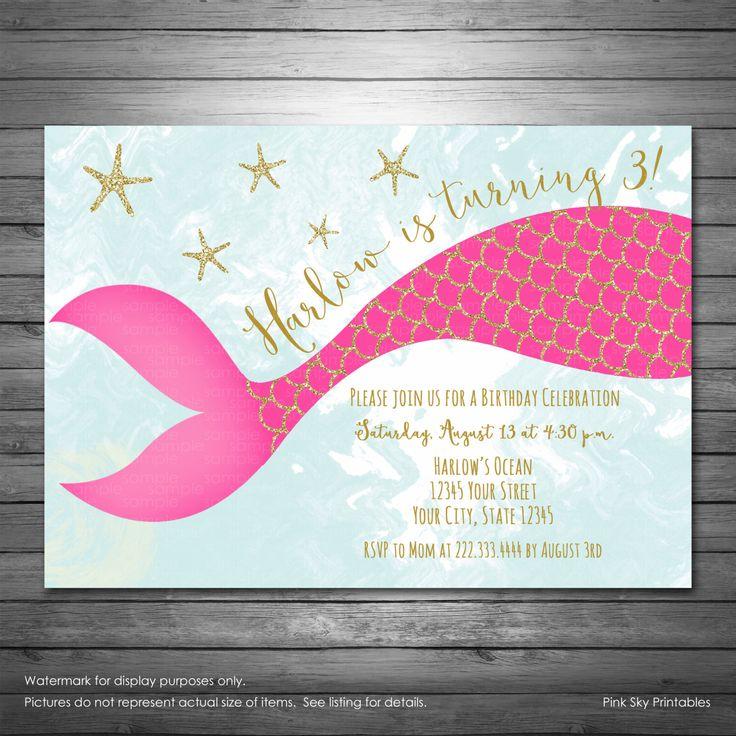 best 20+ mermaid party invitations ideas on pinterest | little, Birthday invitations