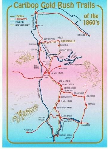 Cariboo gold rush map