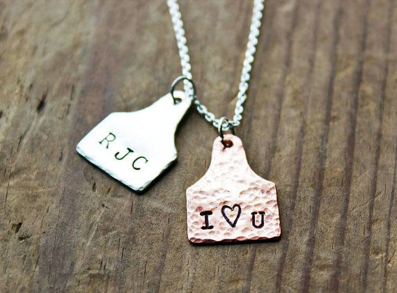 Custom Ear Tag Pendants Personalized by littleWingedHeart on Etsy