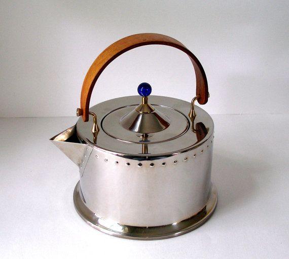 Vintage Bodum C Jorgensen Tea Kettle Ottoni Inox 18 8