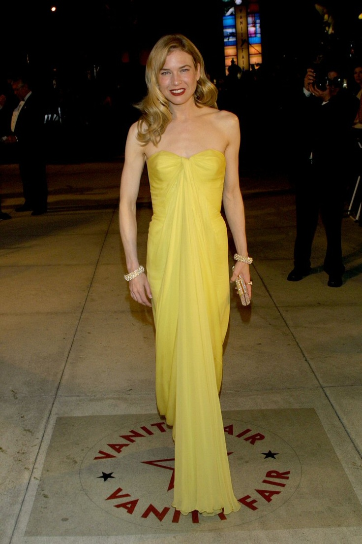 Renee Zellwegger Lily et Cie Oscars 2001. I think we all remember this one. Beautiful canary yellow dress after the first Bridget Jones.