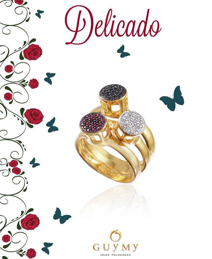 Semi jóias folheadas a ouro 18K e cravejadas com zirconias.