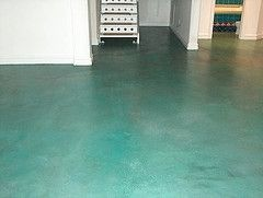 13 best images about blue green stained concrete floors