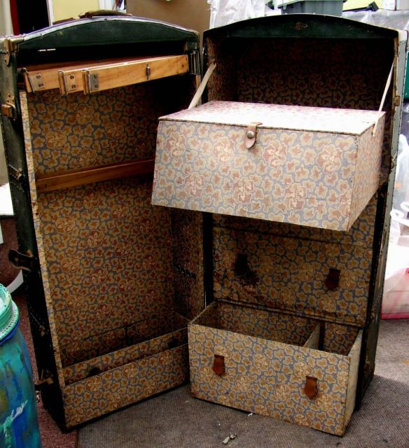 Antique Steamer Trunk Ebay Woodworking Projects Amp Plans