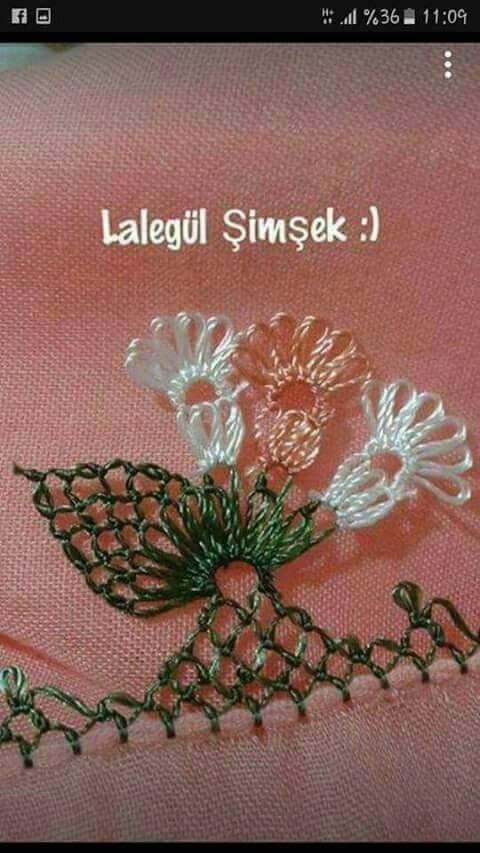 beautiful delicate oya :-) |