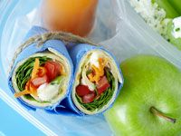 Hummus and salad tortillas with ricotta celery