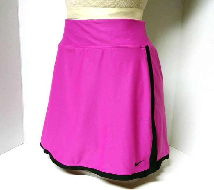 Nike Fit Dry Border Tennis Skirt Skort Shorts (350957-543) Pink & Black Sz: XL