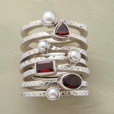 For some reason, I have always loved stacked rings!