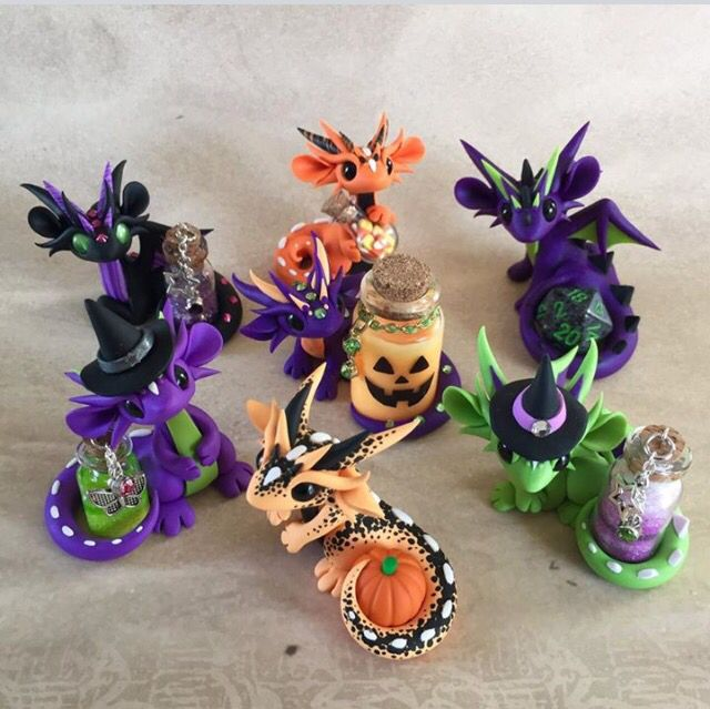 Halloween Dragons by Dragonsandbeasties