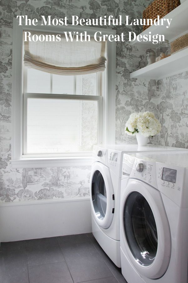 21 Laundry Rooms That Will Make You Want to Do Laundry. Inspiration especially if you're considering redoing a room in your home. Cases for why you need to redo your laundry room.