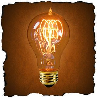 25 Watt - Vintage Antique Light Bulb - Victorian Style - 4 Loop Hand-Wound Carbon Filament - Clear  $4.89