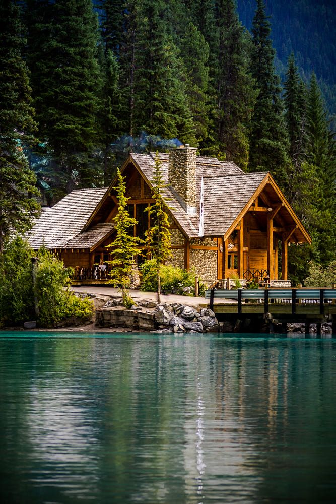 cabin on the lake by thomas nay on 500px ahşap ve taş evler