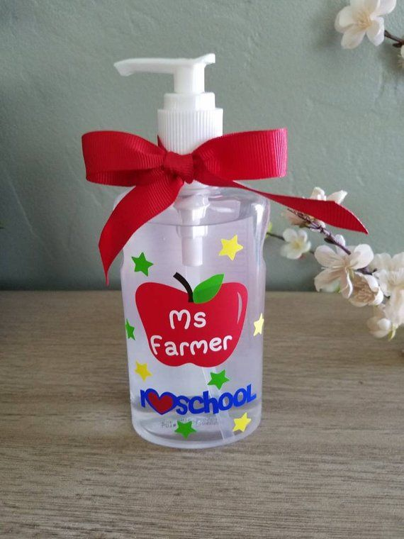 Teacher Personalized Hand Sanitizer Gift School Days