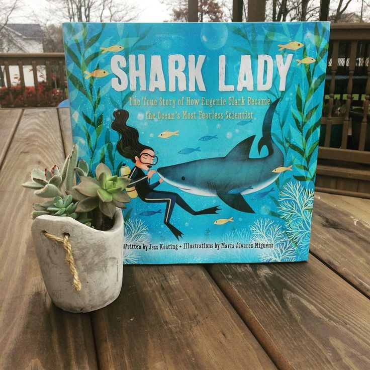Kid Pick of the Week: Shark Lady by @jesskeatingbooks /5 Stars  Both of my children chose this as the kid pick of the week and I agree with them 100%! Jess Keating has written a lovely biography of scientist Eugenie Clark a zoologist who discovered groundbreaking information about sharks and other ocean life and who was a tireless advocate for protecting wildlife. (My kiddos also loved that she was half Japanese!) Beautifully illustrated great storytelling. A perfect edition to a library…