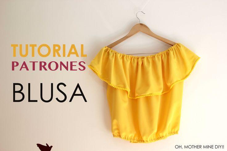 DIY Tutorial: Blusa sin hombros (patrones gratis)