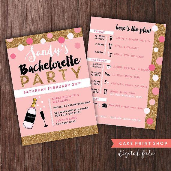 Best Bachelorette Party Images On Pinterest Bachelorette Party - Party invitation template: bachelorette party itinerary template