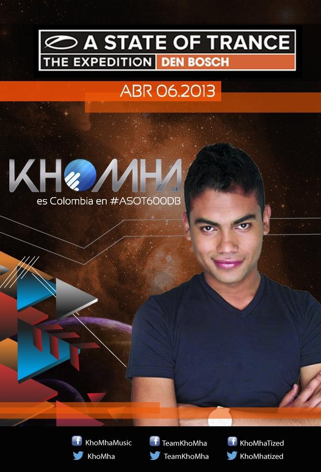 Flyer evento electróncio dj Khoma.