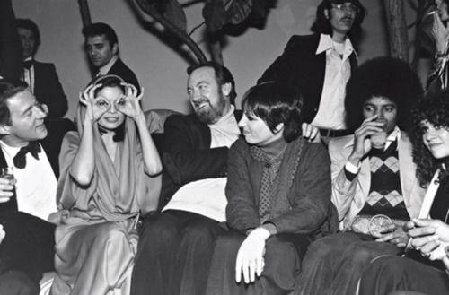 Haltson, Bianca Jagger, Jack Haley Jr, Liza Minnelli, Michael Jackson - Studio 54, 1975.