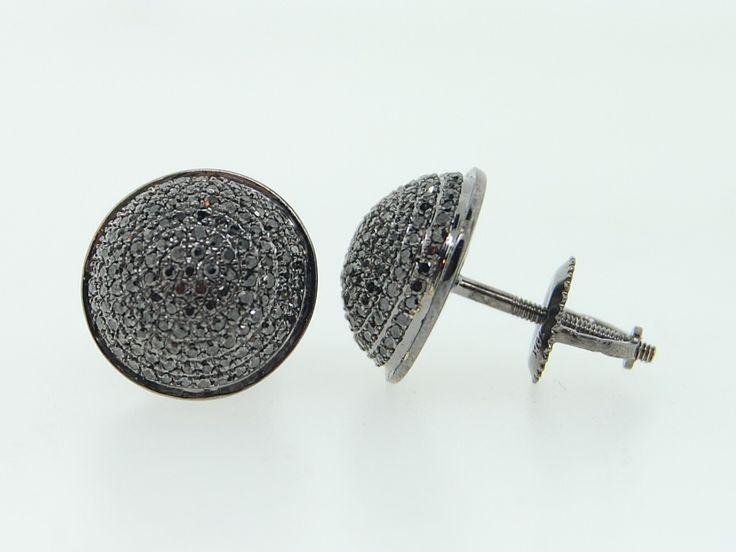 Diamond Stud Earrings For Men Hd Real Black Diamond Earrings
