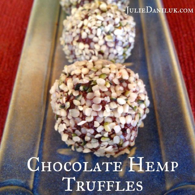 #Raw #Chocolate Hemp Truffles for Valentines Day by Julie Daniluk. Recipe here: https://juliedaniluk.com/recipes/chocolate-hemp-truffles.html
