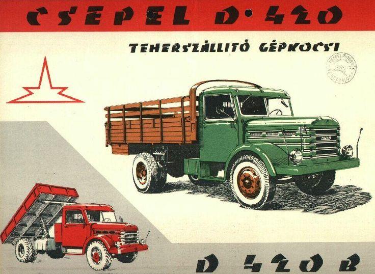 Csepel D-420 és HD-420 (magashegyi, feltöltős) közepes teherbírású, közúti gépjármű | Чепель Д-420 и HD-420 (альпийская, с наддувом), средней грузоподъёмности дорожное транспортное средство