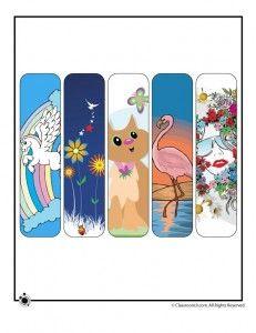 Printable Summer  Bookmarks for Girls