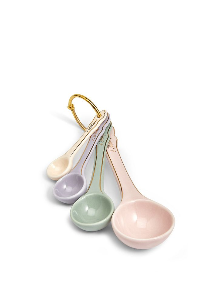 if someone you know has a pastel themed kitchen then these vintage measuring spoons are a