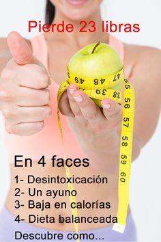 Una dieta para perder peso rápido. 4 faces fáciles de hacer con las que puedes perder hasta 23 libras en 21 días.