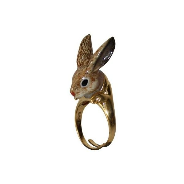NACH RABBIT BROWN RING (Adjustable)(WAS 60) ❤ liked on Polyvore featuring jewelry, rings, accessories, fillers, brown jewelry, rabbit ring, adjustable rings, rabbit jewelry and brown ring