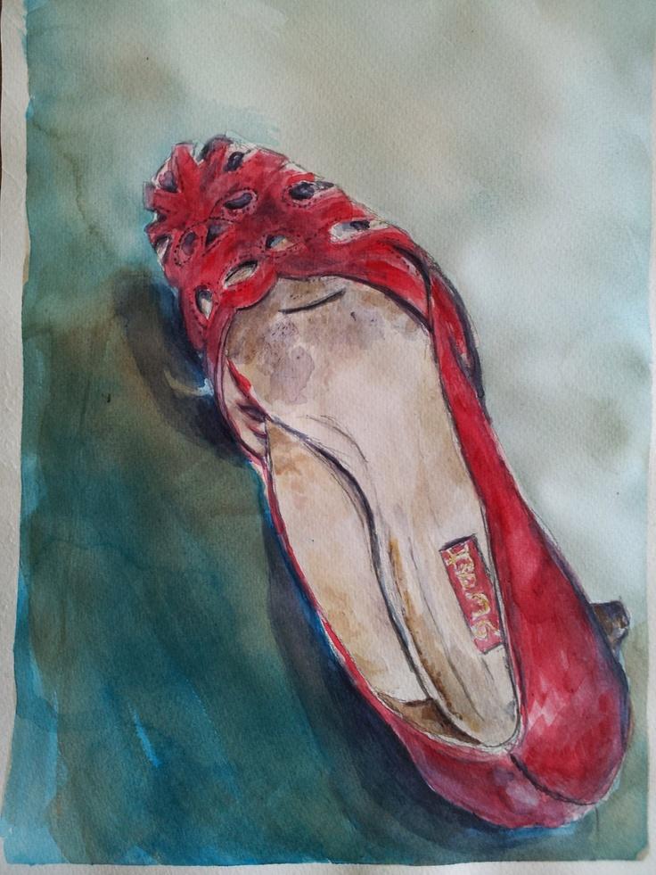 """""""Fallen from Grace"""" watercolor. $50.00, via Etsy."""