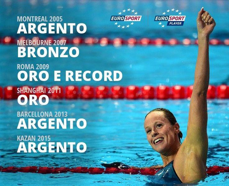 Federica Pellegrini: 6 medaglie consecutive nei 200 stile libero ai Mondiali