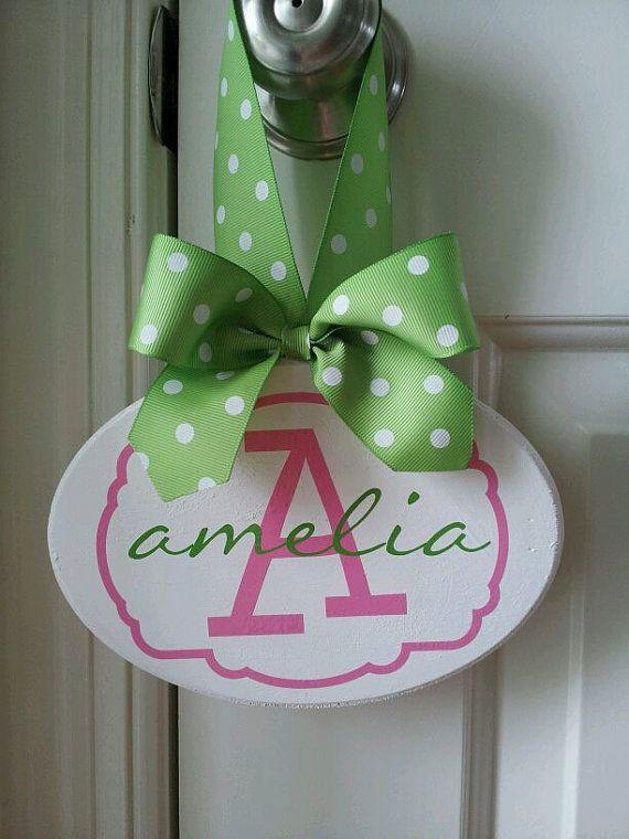 Personalized Girls Childrens Room Name Door Sign Kids