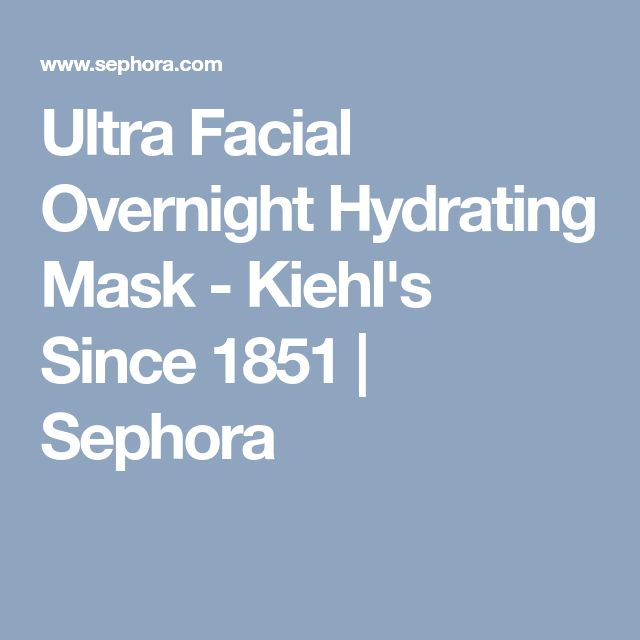 Ultra Facial Overnight Hydrating Mask - Kiehl's Since 1851 | Sephora