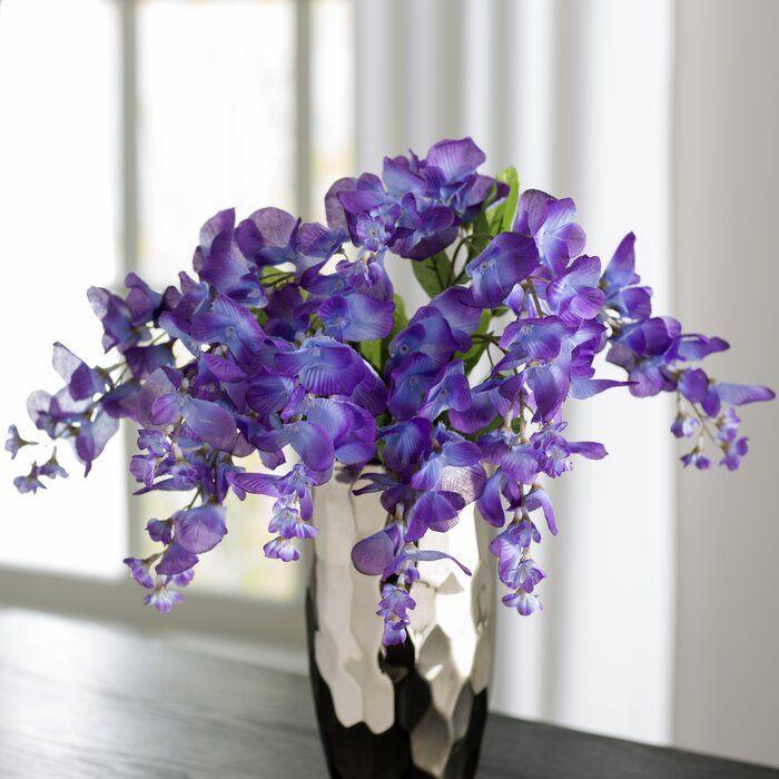 Wisteria Stem Faux Flowers Table Vases Rose Floral Arrangements